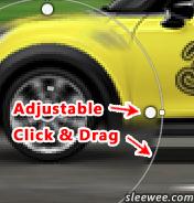 Adjustable spin blur guides