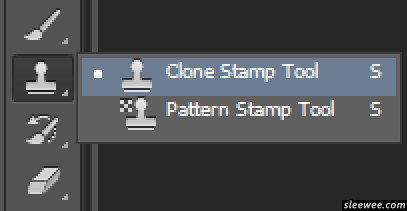 Clone Stamp Tool is located in the Tools