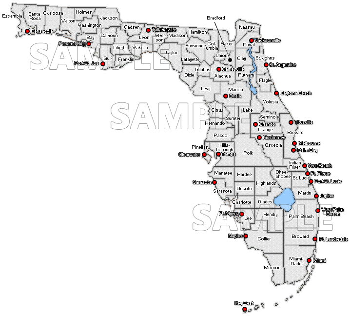 Simple Florida map