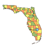 Florida Map PSD