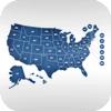 Cyber Blue Free U.S. Map