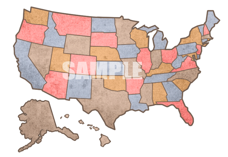 Free Colorful U.S. Map