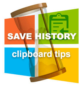 Save history - clipboard tips